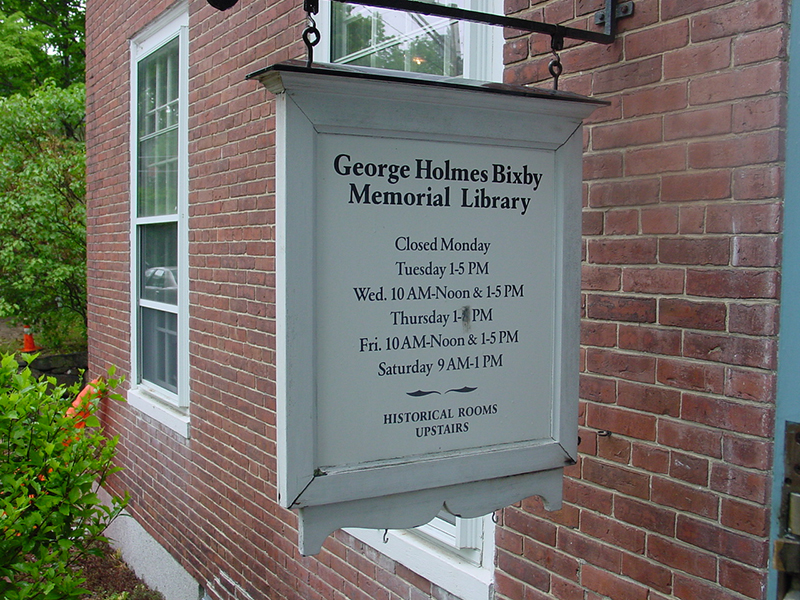 Bixby Memorial Library, Francestown, NH